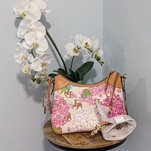 NWT Dooney & Bourke floral satchel